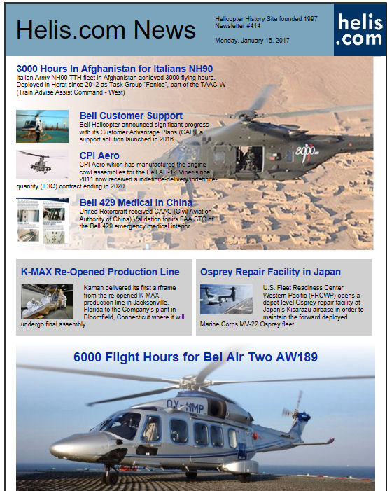 Helicopter News January 16, 2017 by Helis.com