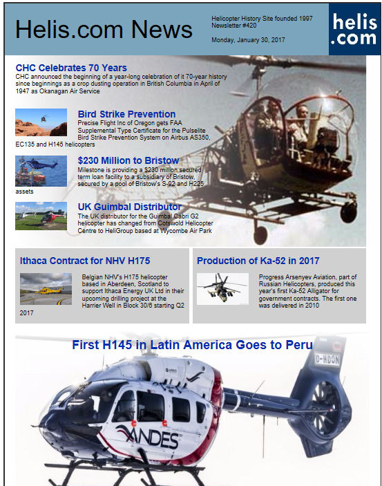 Helicopter News January 30, 2017 by Helis.com