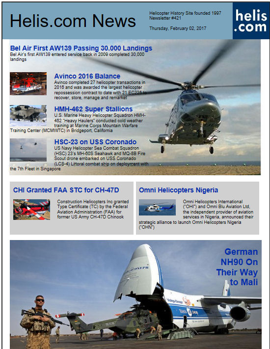 Helicopter News February 02, 2017 by Helis.com