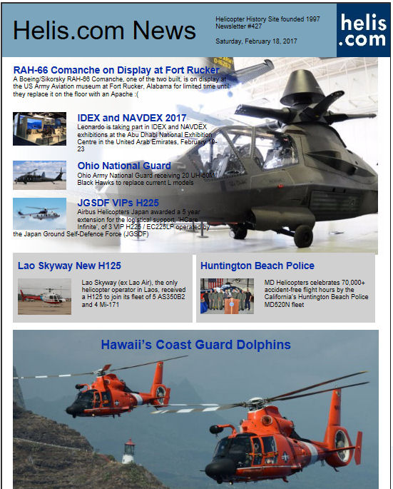 Helicopter News February 18, 2017 by Helis.com
