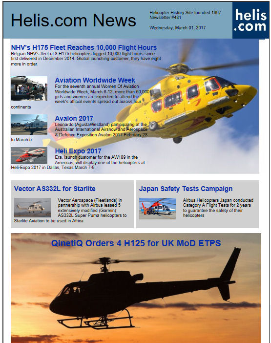 Helicopter News March 01, 2017 by Helis.com