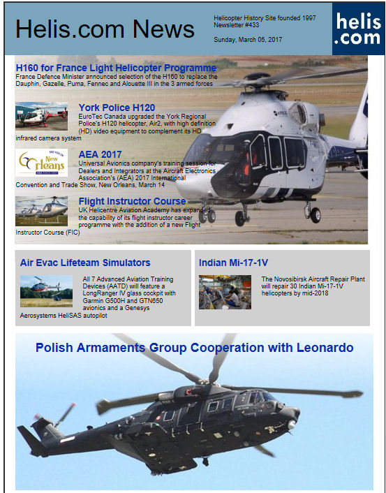 Helicopter News March 05, 2017 by Helis.com