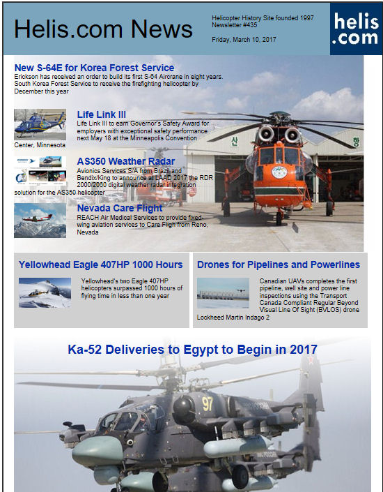 Helicopter News March 10, 2017 by Helis.com