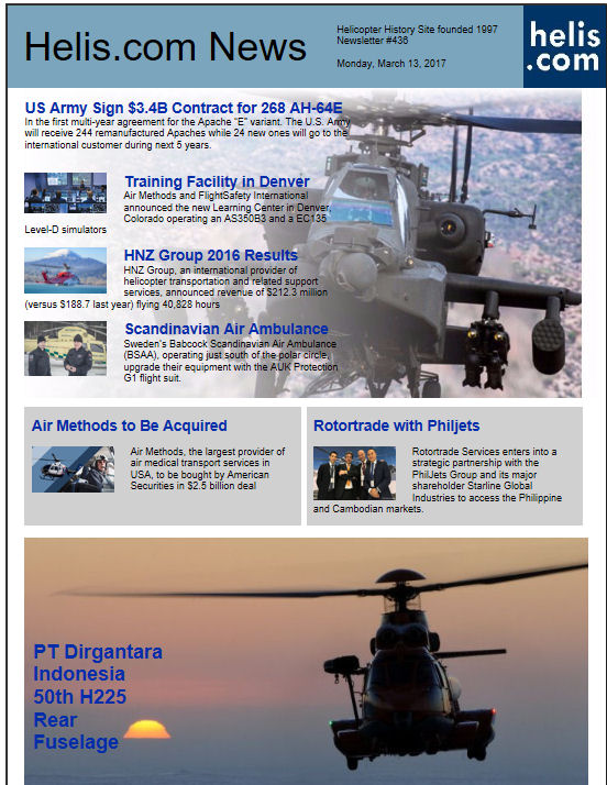 Helicopter News March 13, 2017 by Helis.com