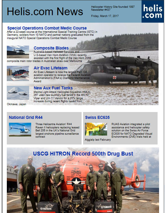 Helicopter News March 17, 2017 by Helis.com