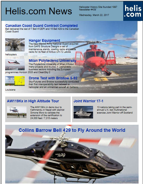 Helicopter News March 22, 2017 by Helis.com