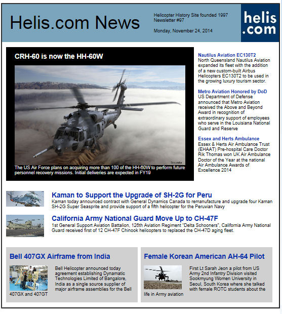 Helicopter News November 24, 2014 by Helis.com