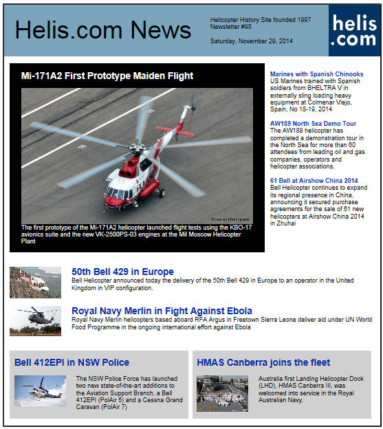 Helicopter News November 29, 2014 by Helis.com