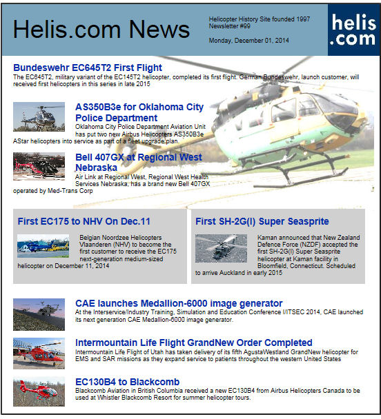Helicopter News December 01, 2014 by Helis.com