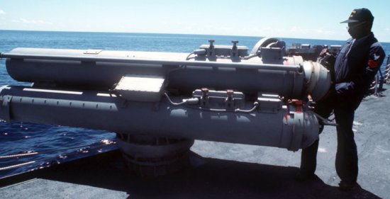 Torpedo Launchers Mk 32 triple-tube 324mm