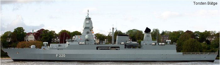 Guided-Missile Destroyer F 124 Sachsen class