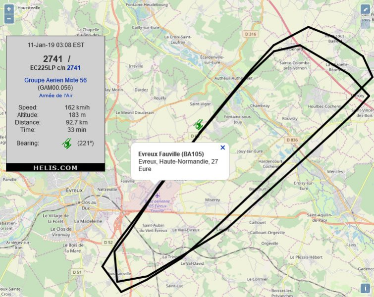 Eurocopter EC225LP          flight track ads-b