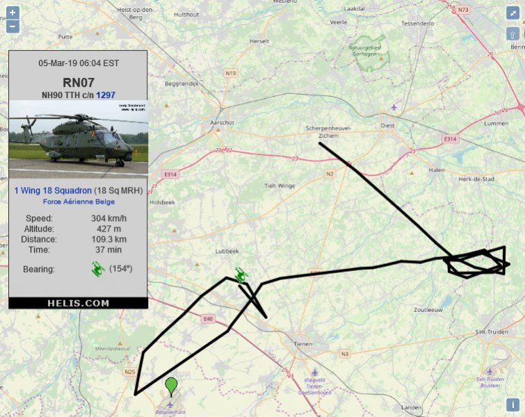 NH Industries NH90 TTH 1297 flight track ads-b