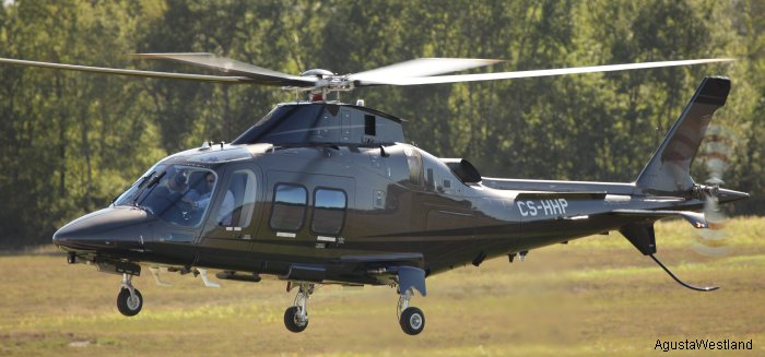 Helicopter AgustaWestland AW109SP GrandNew Serial 22214 Register CS-HHP used by Vinair Aeroserviços S.A.. Aircraft history and location