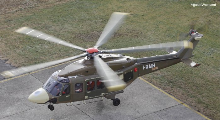 Helicopter AgustaWestland AW189 Serial 49003 Register I-RAIH used by Agusta Spa AgustaWestland Italy. Built 2011. Aircraft history