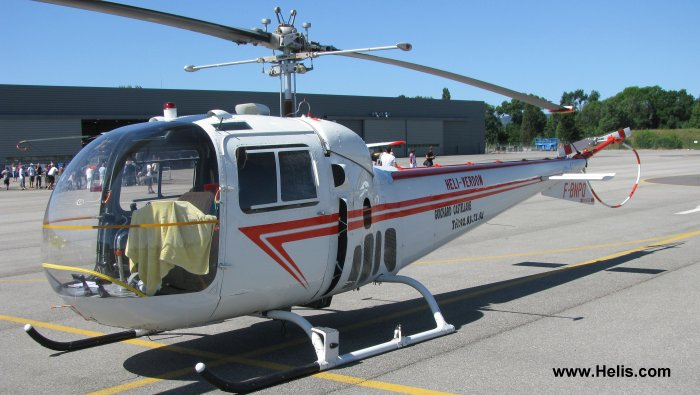 Helicopter Bell 47J Serial 1425 Register I-AGUS F-BNPQ. Built 1957. Aircraft history and location
