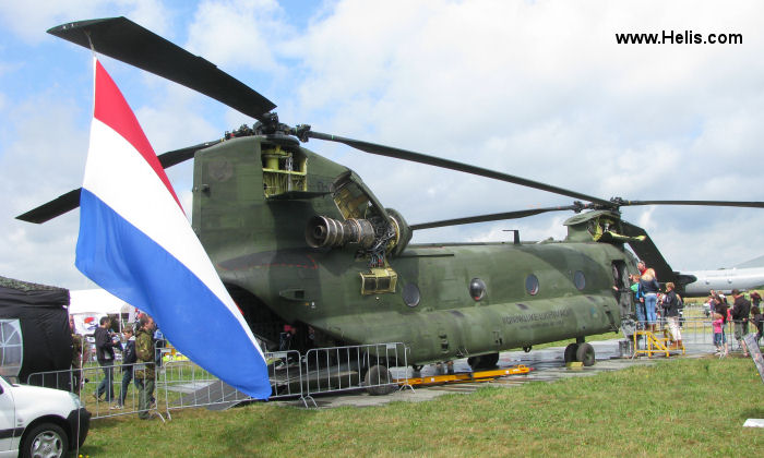 Helicopter Boeing CH-47D Chinook Serial M.3664 Register D-664 used by Koninklijke Luchtmacht RNLAF (Royal Netherlands Air Force). Aircraft history and location