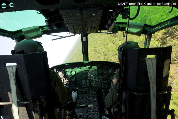US Air Force UH-1N cockpit