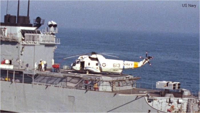 Helicopter Sikorsky HSS-2 Sea King Serial 61-021 Register 148043 used by US Navy USN (United States Naval Aviation) ,US Marine Corps USMC. Aircraft history and location