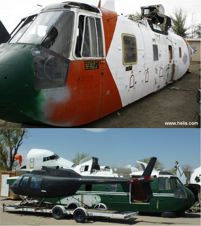 Helicopter Sikorsky HH-3F Pelican Serial 61-665 Register 1488 used by US Coast Guard USCG. Aircraft history and location