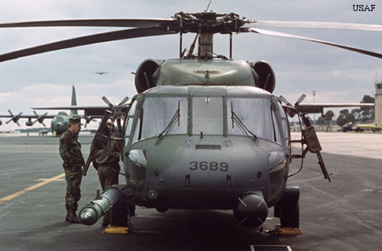 Helicopter Sikorsky MH-60G Pave Hawk Serial 70-512 Register 82-23689 used by US Air Force USAF. Aircraft history and location