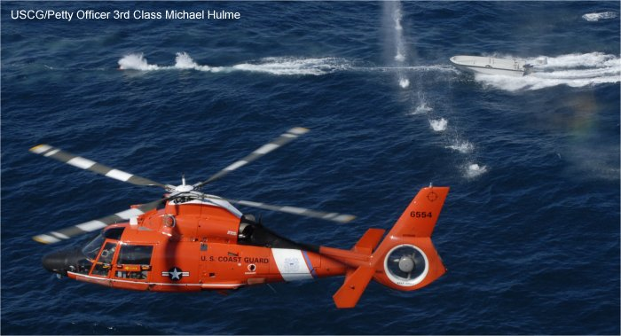 Helicopter Aerospatiale HH-65 Dolphin Serial 6231 Register 6554 used by US Coast Guard USCG. Aircraft history and location