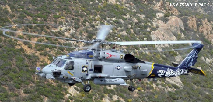 Helicopter Maritime Strike Squadron Seven Five US Navy