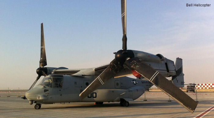 Helicopter Bell MV-22B Osprey Serial D0128 Register 167917 used by US Marine Corps. Built 2010. Aircraft history