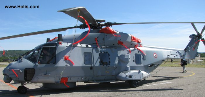 Helicopter NH Industries NH90 NFH Serial 1075 Register  used by Aéronautique Navale (French Navy). Built 2010. Aircraft history and location