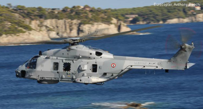 Helicopter NH Industries NH90 NFH Serial 1055 Register  used by Aéronautique Navale (French Navy). Aircraft history