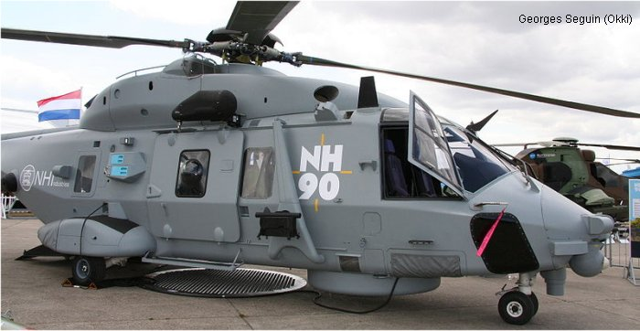 Helicopter NH Industries NH90 Serial PT1 Register MMX612 F-ZWTH used by AgustaWestland Italy ,Eurocopter France Eurocopter Marignane. Built 1995. Aircraft history and location