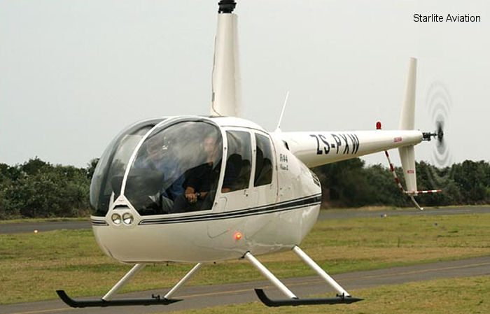 Helicopter Robinson R44 II Serial 11875 Register ZS-PXW used by Starlite Helicopters. Aircraft history and location