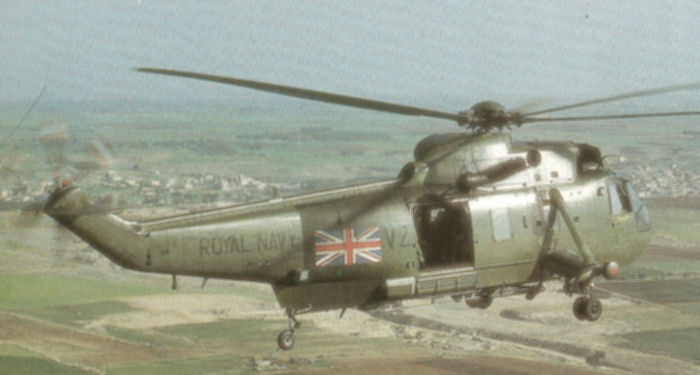 Helicopter Westland Sea King HC.4 Serial wa 917 Register ZA313 used by Fleet Air Arm (Royal Navy). Aircraft history