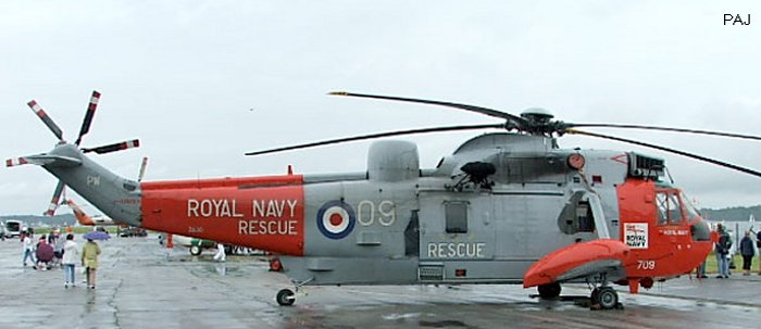 Helicopter Westland Sea King HAS.5 Serial wa 891 Register ZA130 used by Fleet Air Arm (Royal Navy). Built 1980. Aircraft history