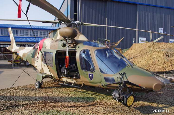 Helicopter AgustaWestland A109LUH Serial 13653 Register 4003 used by Suid-Afrikaanse Lugmag SAAF (South African Air Force). Aircraft history and location
