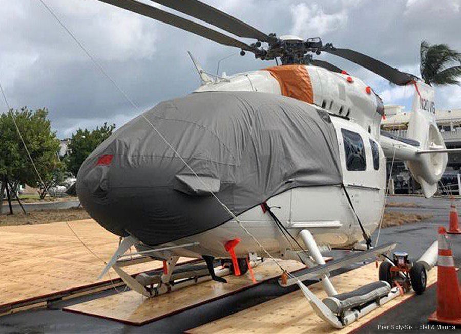 Helicopter Airbus Helicopters H145 / EC145T2 Serial 20077 Register N20VG N3MC used by Starspeed Ltd Airbus Helicopters Inc (Airbus Helicopters USA). Built 2016. Aircraft history and location