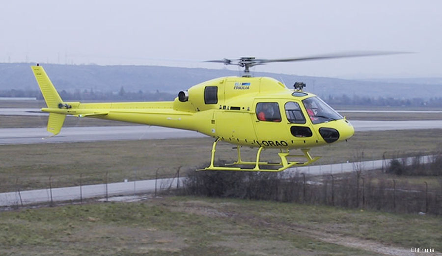 Helicopter Eurocopter AS355N Ecureuil 2 Serial 5583 Register I-ORAO used by EliFriulia. Aircraft history and location