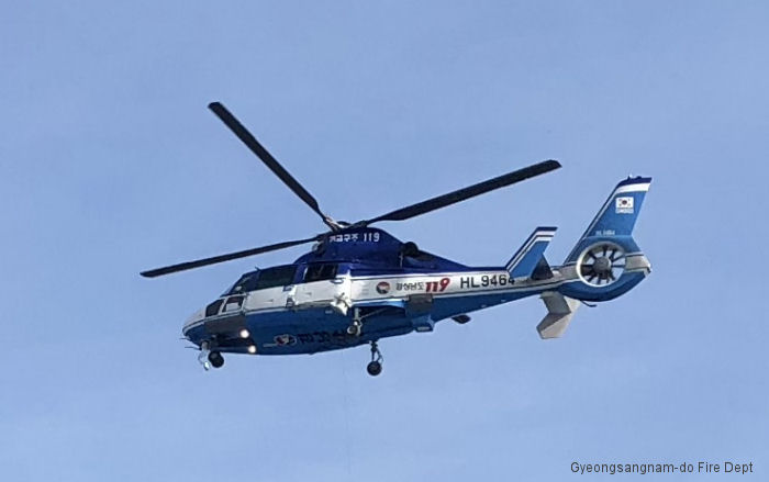 Helicopter Eurocopter AS365N3 Dauphin 2 Serial 6730 Register HL9464 GN001. Built 2006. Aircraft history and location