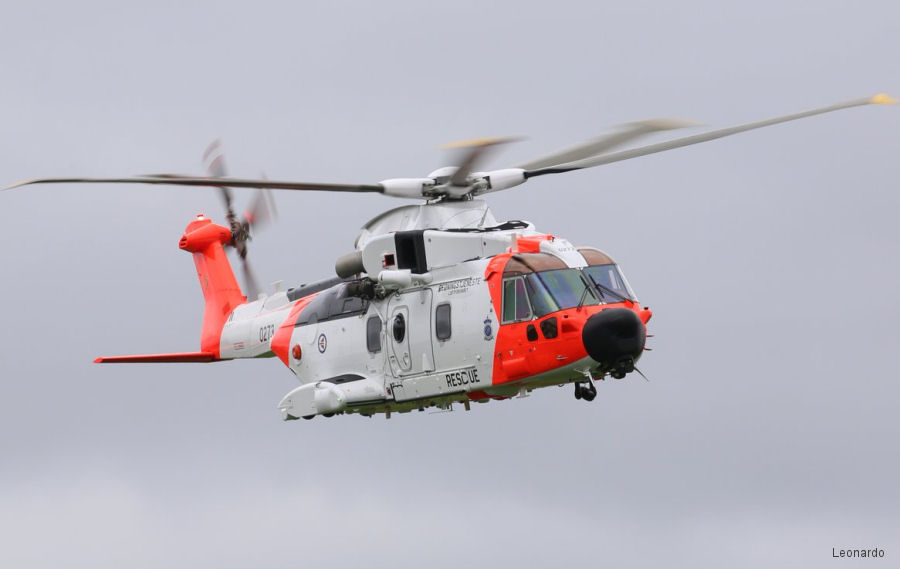 Helicopter AgustaWestland AW101 612 Serial 50273 Register 0273 used by Luftforsvaret (Royal Norwegian Air Force). Aircraft history