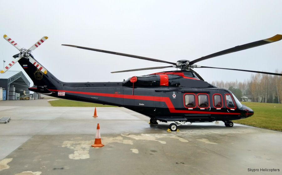 Helicopter AgustaWestland AW139 Serial 31612 Register RA-01998 used by Skypro Helicopters. Aircraft history and location