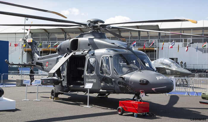 Helicopter AgustaWestland AW149 Serial 49006 Register CSX81848 I-AWTH I-RAII used by AgustaWestland Italy. Aircraft history and location