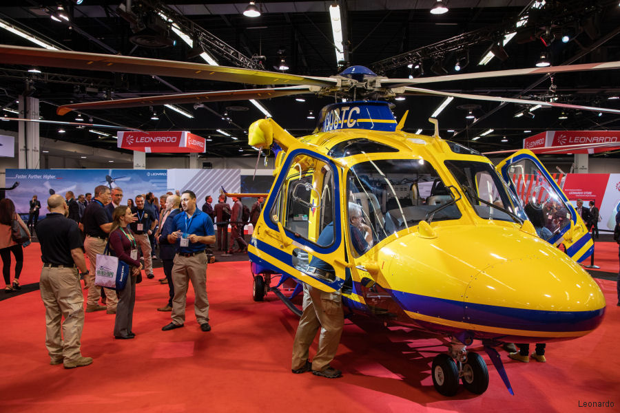 Helicopter AgustaWestland AW169 Serial 69085 Register N308TC used by STARFlight (Travis County Emergency Services) ,AgustaWestland Philadelphia (AgustaWestland USA). Built 2018. Aircraft history and location