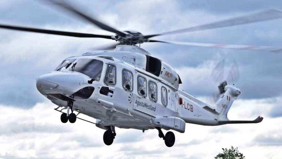Helicopter AgustaWestland AW189 Serial 49021 Register 9M-WST EI-GCR I-LCIB used by Weststar Aviation WAS ,LCI Aviation (Lease Corporation International) ,AgustaWestland Italy. Built 2015. Aircraft history and location