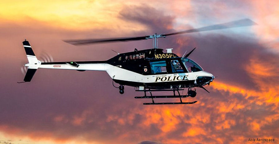 Helicopter Bell 206B-3 Jet Ranger Serial 4586 Register N305PD used by TPD (Tucson Police Department). Built 2005. Aircraft history and location