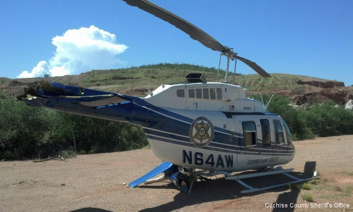 Helicopter Bell 206L-4 Long Ranger Serial 52298 Register N64AW used by State of Arizona Airwest Helicopters. Built 2004. Aircraft history