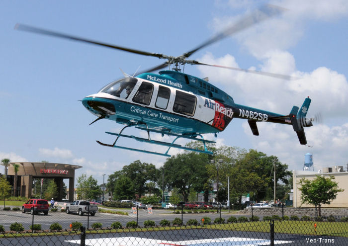 Helicopter Bell 407 Serial 54092 Register C-GOLQ N407AR N462SB used by Bell Helicopter Canada State of South Carolina Bell Helicopter Med Trans Corp. Built 2012. Aircraft history