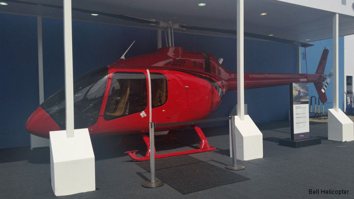 Helicopter Bell 505 Jet Ranger X Serial mockup Register mockup used by Bell Helicopter. Aircraft history and location