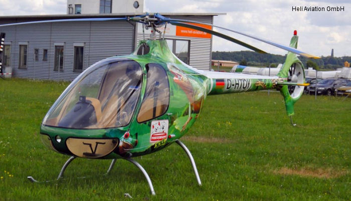 Helicopter Guimbal Cabri G2 Serial 1019 Register D-HTOY used by Heli Aviation GmbH. Aircraft history and location