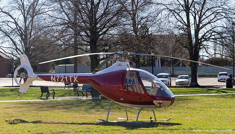 Helicopter Guimbal Cabri G2 Serial 1098 Register N721TX used by State of Tennessee State of Oregon. Built 2015. Aircraft history and location