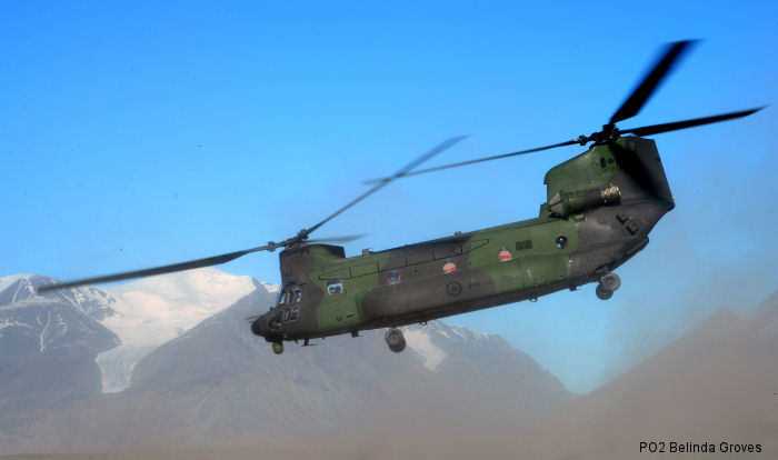 Helicopter Boeing CH-147F Chinook Serial M.2055 Register 147305 used by Canadian Armed Forces. Aircraft history and location